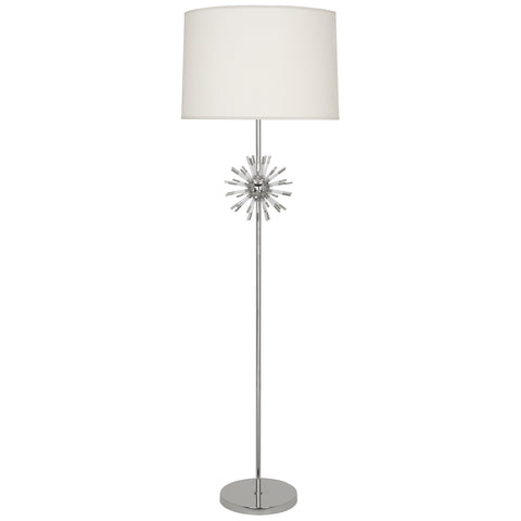 Andromeda Floor Lamp in Polished Nickel Finish w/ Clear Acrylic Accents design by Robert Abbey