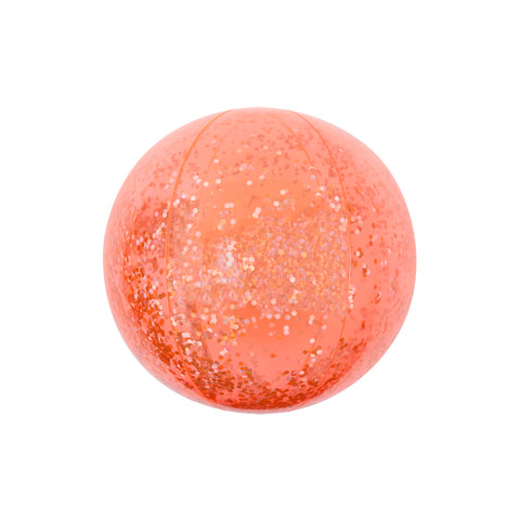 Inflatable Beach Ball in Glitter Coral