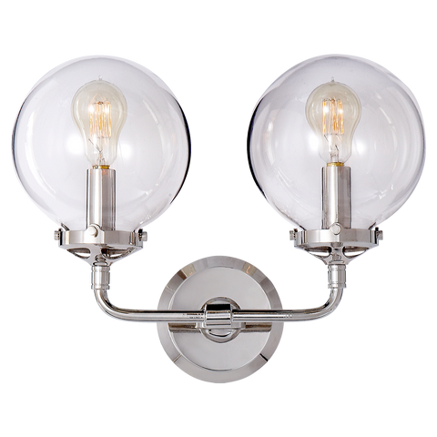 Bistro Double Light Curved Sconce by Ian K. Fowler