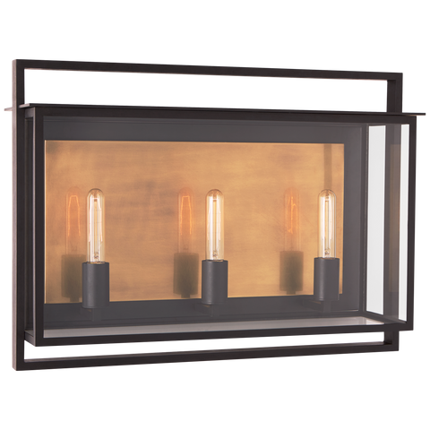 Halle Medium Wide Wall Lantern by Ian K. Fowler