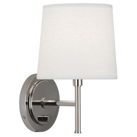 Bandit Wall Sconce in Polished Nickel design by Robert Abbey