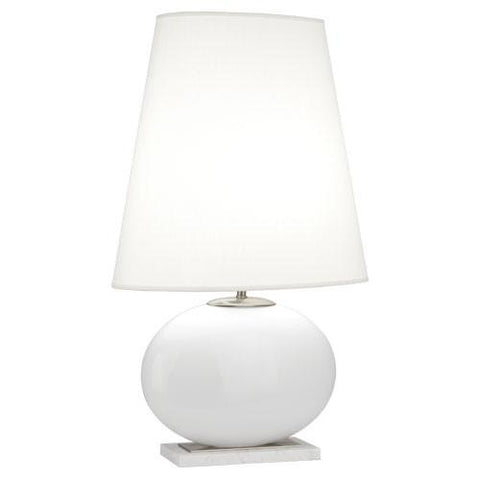 Raquel Collection Oval Table Lamp design by Robert Abbey