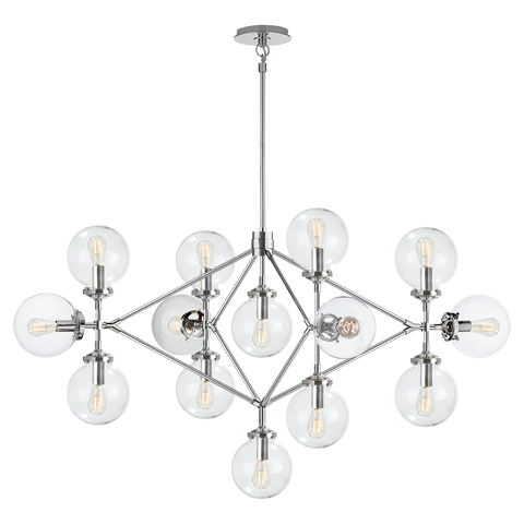 Bistro Four Arm Chandelier by Ian K. Fowler