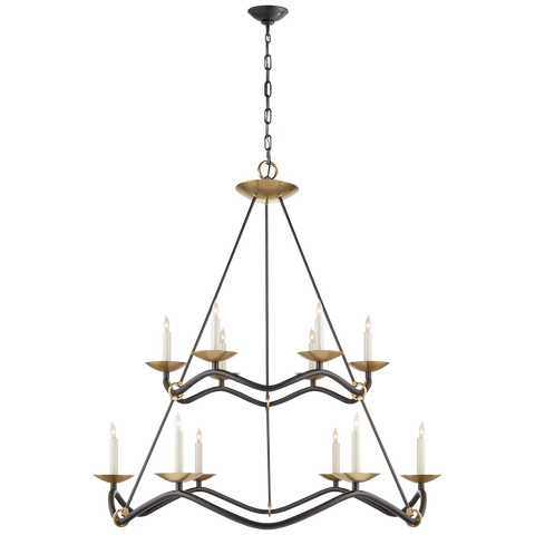 Choros Two-Tier Chandelier by Barry Goralnick