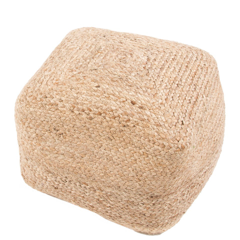 Boysen Beige Solid Square Pouf
