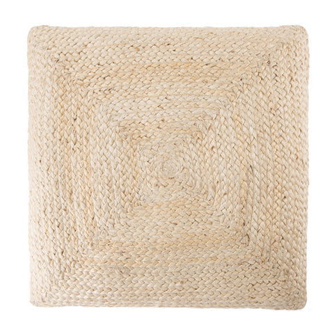 Natia Solid Ivory Floor Cushion