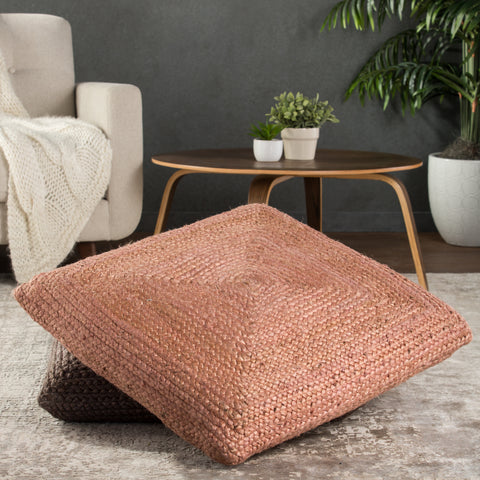 Natia Solid Pink Floor Cushion