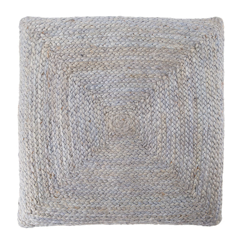 Natia Solid Light Grey Floor Cushion
