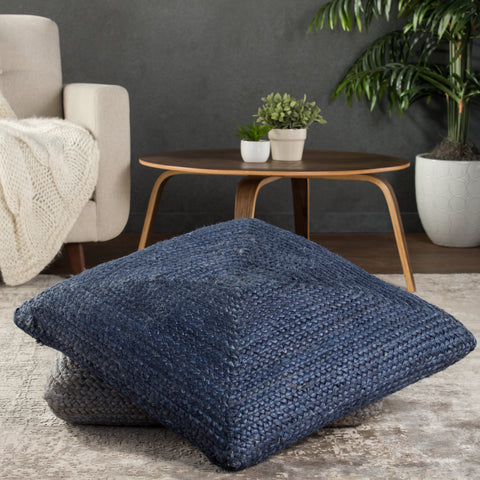 Natia Solid Blue Floor Cushion