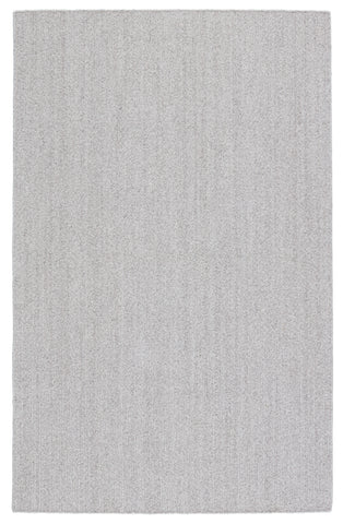 Maracay Indoor/Outdoor Solid Light Grey & White Rug by Jaipur Living