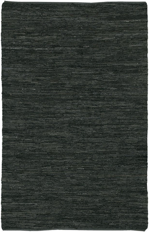Saket Collection Hand-Woven Area Rug in Black