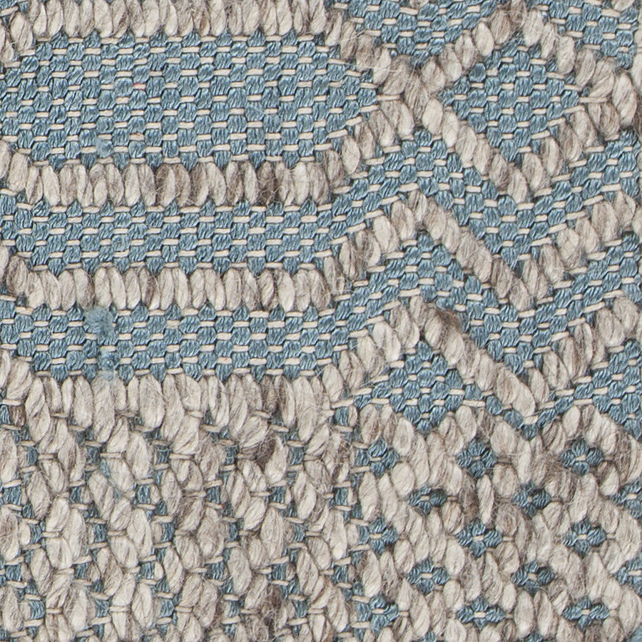 Salona Collection Hand-Woven Area Rug in Blue & Natural design by Chandra rugs
