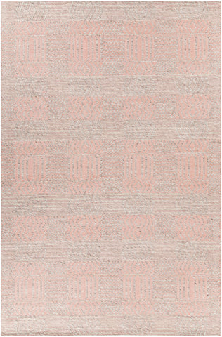 Salona Collection Hand-Woven Area Rug in Pink & Natural design by Chandra rugs