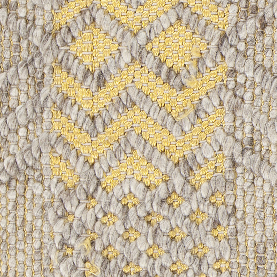 Salona Collection Hand-Woven Area Rug in Yellow & Natural