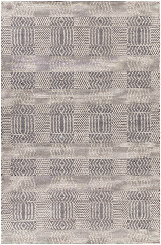 Salona Collection Hand-Woven Area Rug in Black & Natural design by Chandra rugs