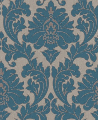 Sample Majestic Green Gold Damask Wallpaper By Graham And Brown