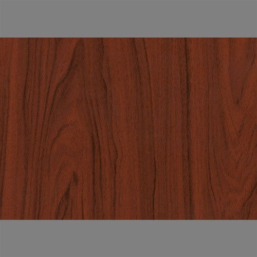 Sample Dark Mahogony Self-Adhesive Wood Grain Contact Wallpaper by Burke Decor