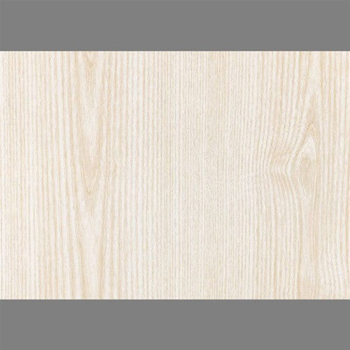 Sample Ash White Self-Adhesive Wood Grain Contact Wallpaper by Burke Decor