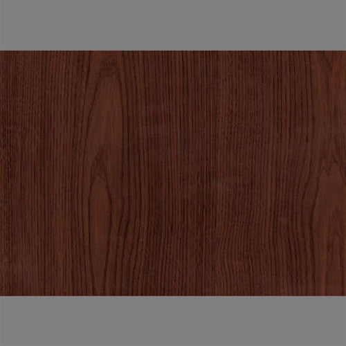 Sample Dark Maron Self-Adhesive Wood Grain Contact Wallpaper by Burke Decor