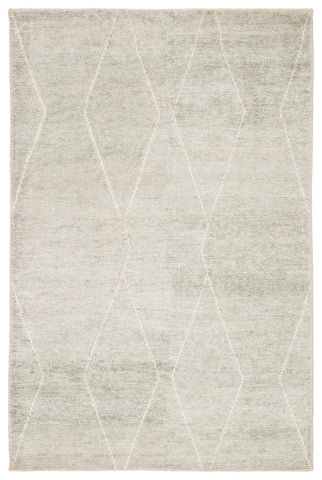 Ozog Geometric Rug in Foggy Dew & Mineral Gray design by Jaipur Living