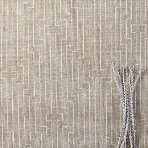 Alloy Handmade Striped Light Taupe & White Rug by Jaipur Living