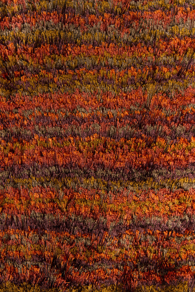 Savona Collection Hand Woven Area Rug In Red Orange
