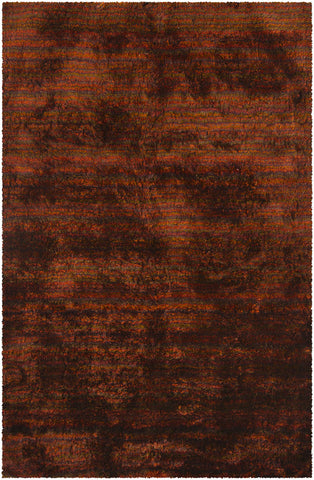 Savona Collection Hand-Woven Area Rug in Red, Orange, & Brown