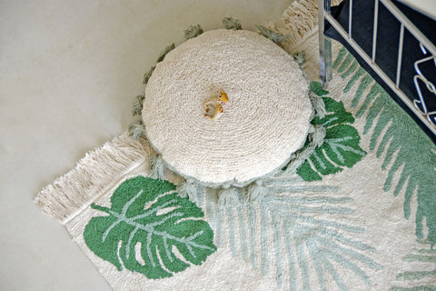 Circle Cushion in Green design by Lorena Canals