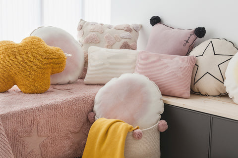 Cloud Cushion in Mustard design by Lorena Canals
