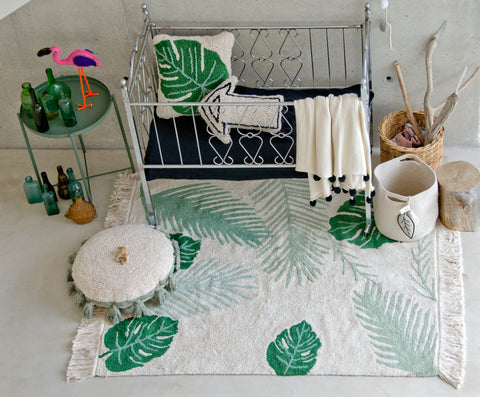 Monstera Cushion design by Lorena Canals