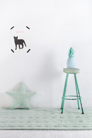 Star Cushion in Soft Mint design by Lorena Canals