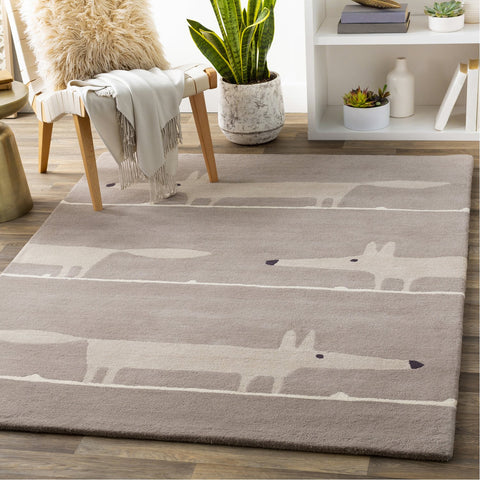 Scion SCI-44 Hand Tufted Rug in Taupe & Cream by Surya