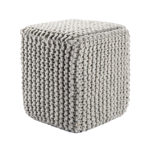 Scandinavia Pouf in Moonstruck design by Jaipur