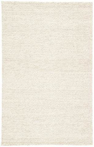 Karlstadt Solid Rug in Whisper White & Simply Taupe design by Jaipur