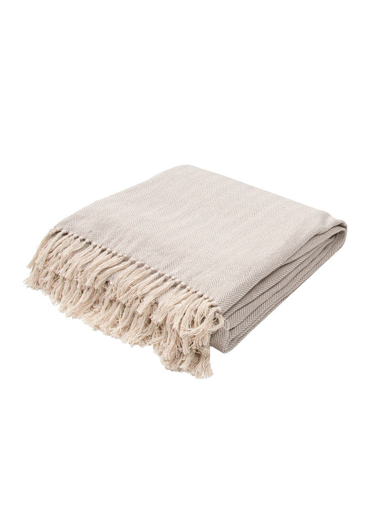 Cannon Gray & Cream Chevron Throw