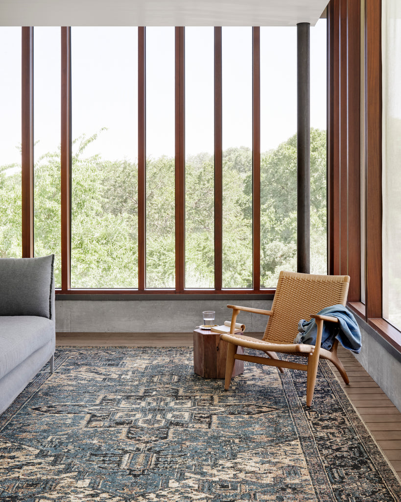 Sebastian Rug in Ocean / Midnight by Loloi