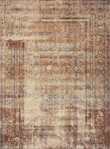 Sebastian Rug in Natural / Brick by Loloi