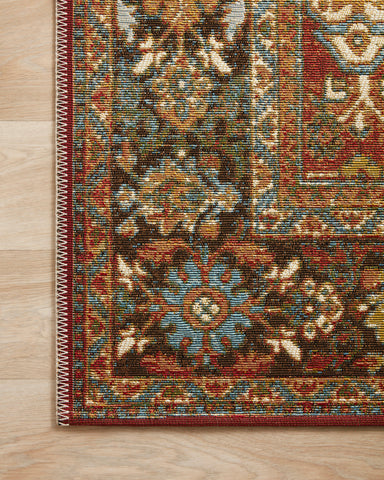 Sebastian Rug in Red / Multi by Loloi