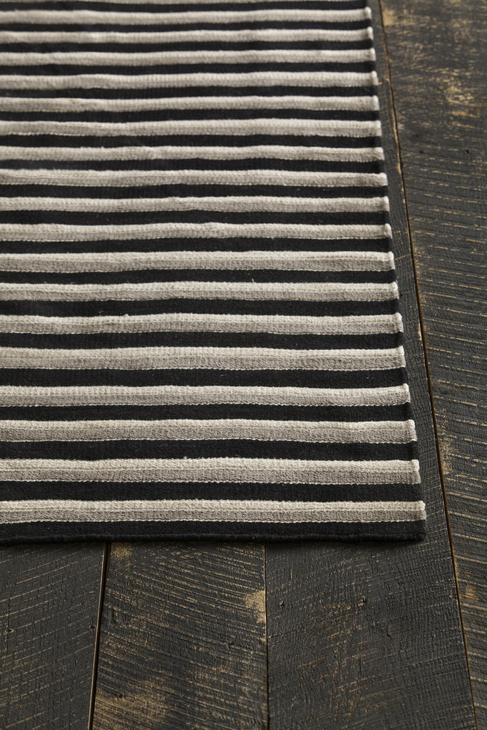 Semoy Collection Flatweave Reversible Area Rug in Black, Cream, & Grey design by Chandra rugs