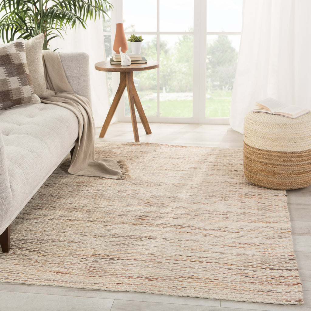 Cirra Natural Solid Ivory/ Terra Cotta Rug by Jaipur Living