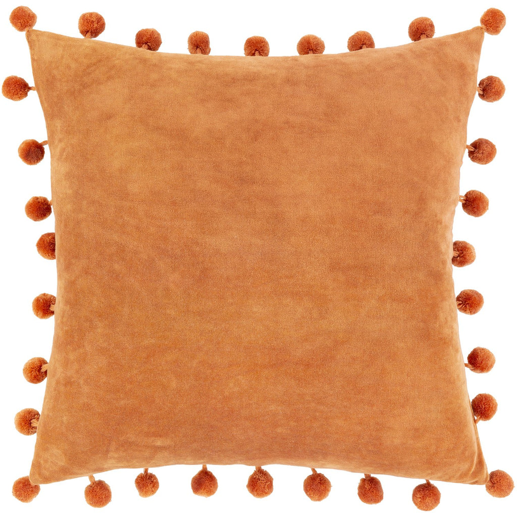 Serengeti SGI-006 Velvet Pillow in Burnt Orange by Surya