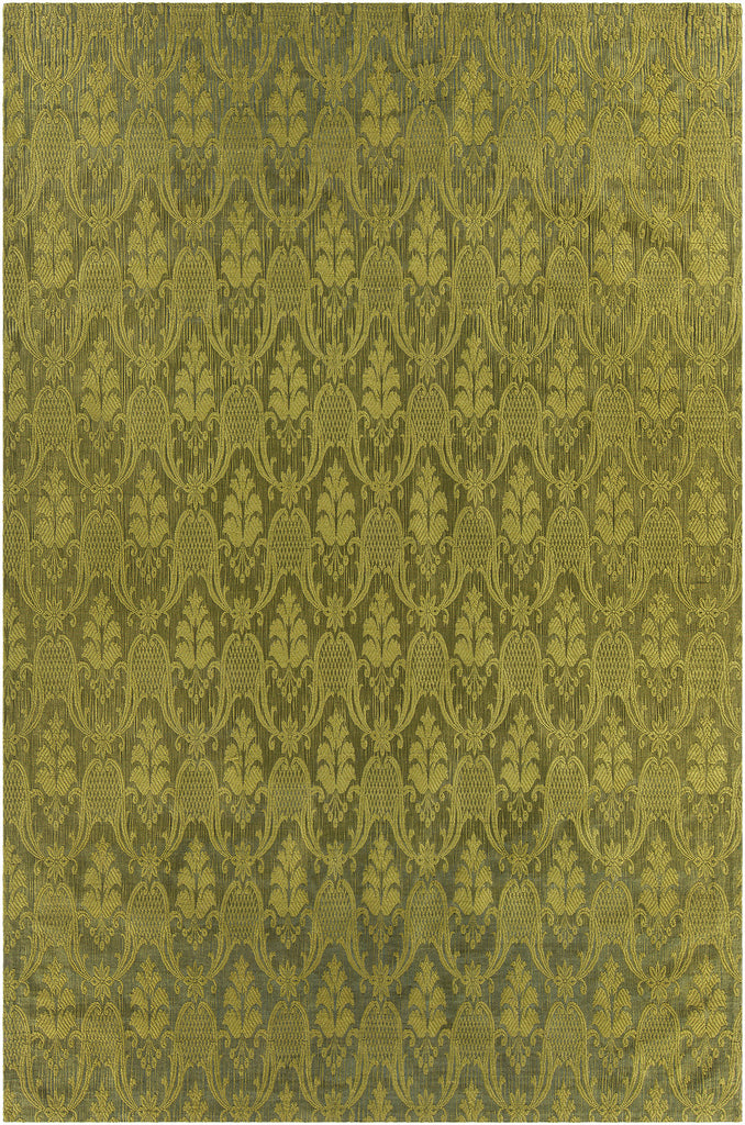 Shenaz Collection Hand-Woven Area Rug in Green design by Chandra rugs