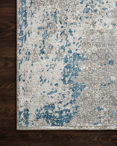 Sienne Rug in Dove & Ocean by Loloi