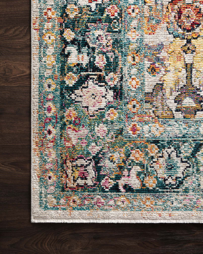 Silvia Rug in Stone & Teal by Justina Blakeney for Loloi