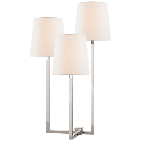Margot Medium Triple Arm Table Lamp by Suzanne Kasler