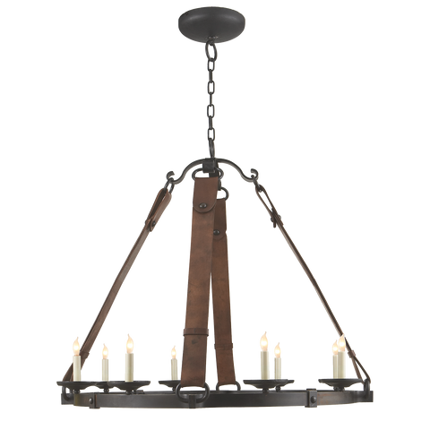 Dressage Round Chandelier by Suzanne Kasler