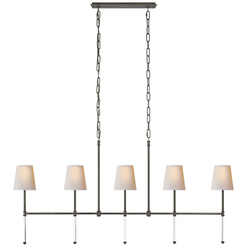 Camille Medium Linear Chandelier by Suzanne Kasler