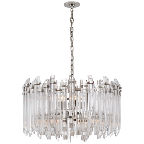 Adele Large Wide Drum Chandelier by Suzanne Kasler