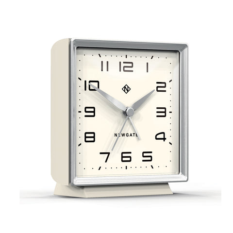 Skyscraper Alarm Clock in Silver with White Face