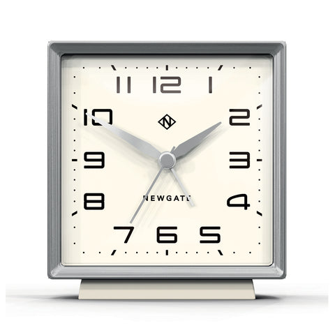 Skyscraper Alarm Clock in Silver with White Face design by Newgate